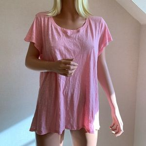 Calypso St. Barth pink t-shirt large 100% cotton
